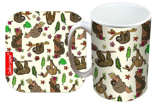 Selina-Jayne Sloth Limited Edition Designer Mug and Coaster Set